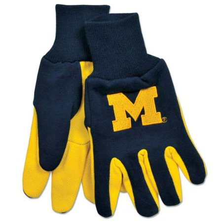 Ncaa Michigan Wolverines Two Tone Gloves  Blue Yellow
