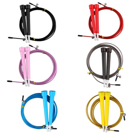 HC-TOP Cable Steel Jump Skipping Jumping Speed Fitness Rope Cross Fit MMA Boxing - image 5 de 7