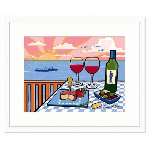 Melissa Van Hise Wine on the Water by Ramon Matheu Framed Graphic Art