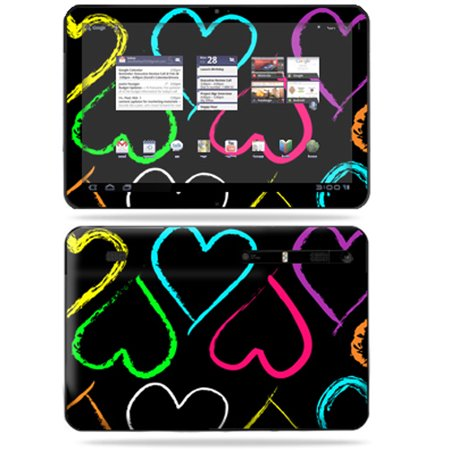 Mightyskins Protective Vinyl Skin Decal Cover For Motorola Xoom Tablet Wrap Sticker Skins Hearts