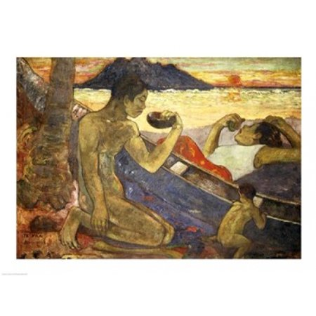 A Canoe Poster Print by Paul Gauguin (24 x 18)