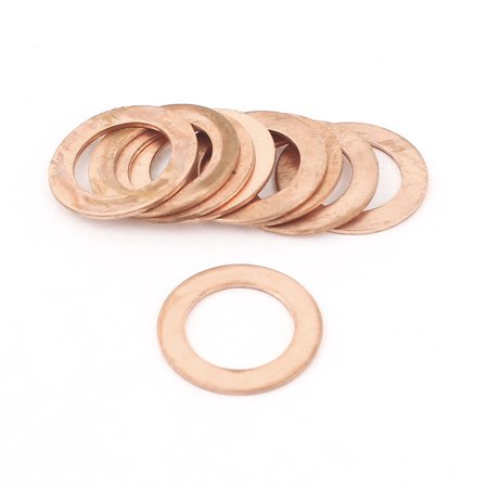 10pcs 14mm Inner Dia 1mm Thickness Copper Flat Washer Ring Seal Fitting