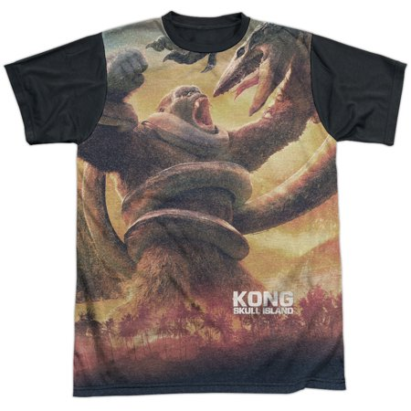 Kong Skull Island The Mighty Jungle Mens Sublimation Shirt With Black Back
