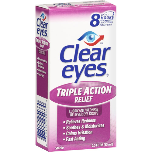 Clear Eyes: Triple Action Relief Eye Drops, 0.50 oz
