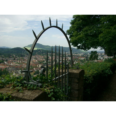 LAMINATED POSTER Iron Gate Wall View Freiburg Pointed Schlossberg Poster Print 24 x 36