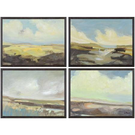 Ren-Wil OL1589 Argyle Matte Painting, Medium - Set of 4 - image 1 of 1
