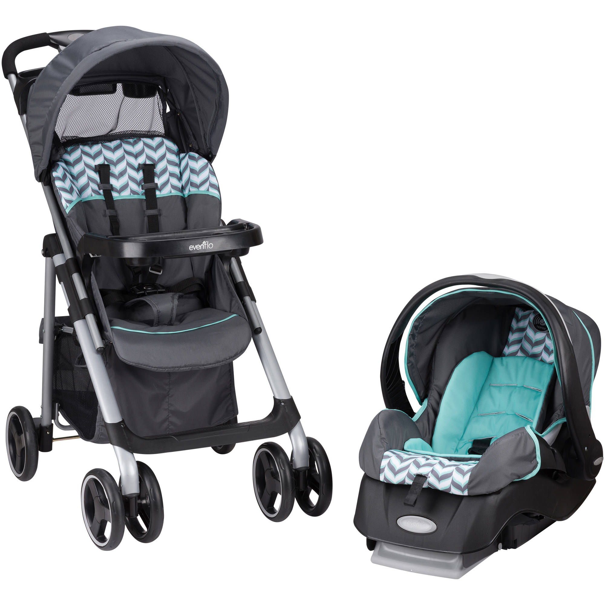 Evenflo Vive Travel System Spearmint Spree Walmart Com