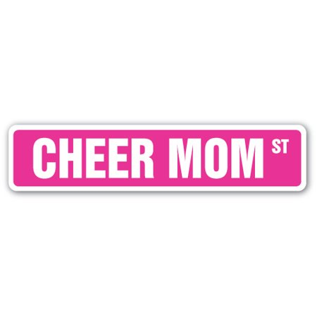 CHEER MOM Street Sign Childrens Name Room Sign | Indoor/Outdoor |  24