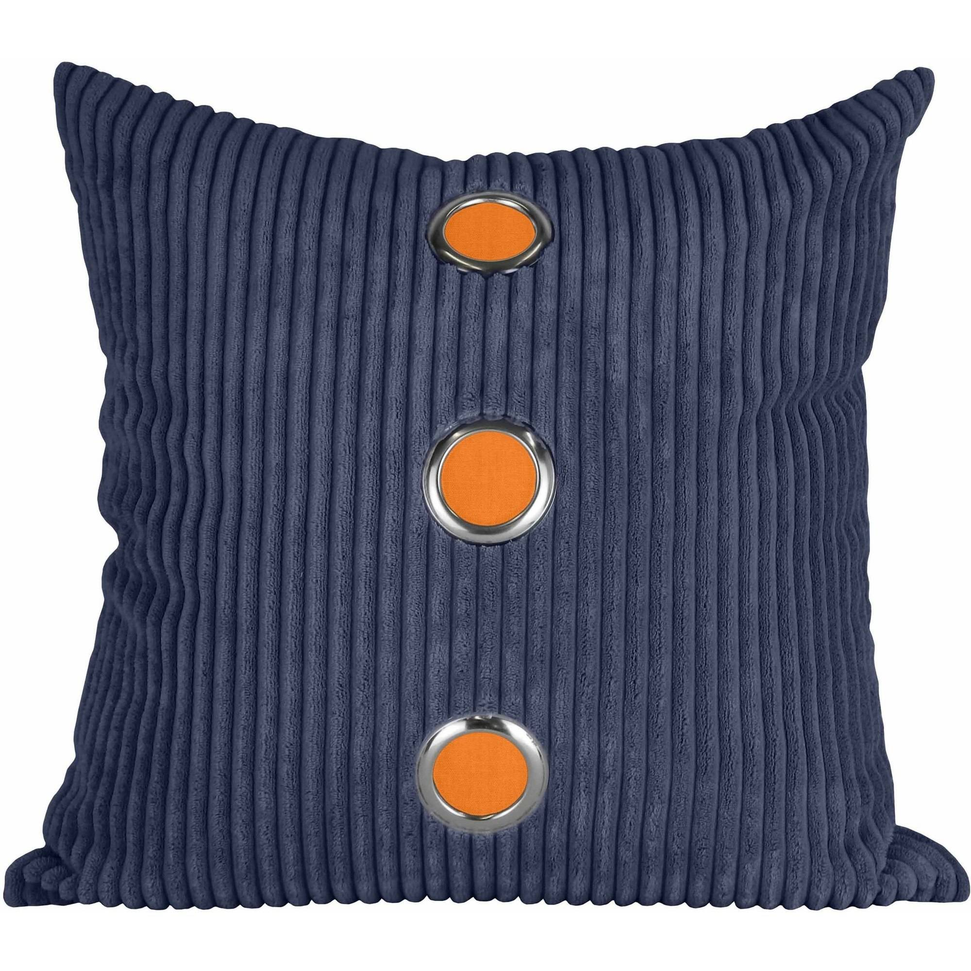 Better Homes and Gardens Navy Corduroy Stoplight Pillow