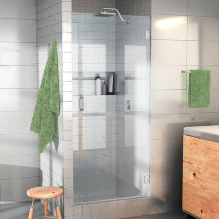 Glass Warehouse 29 X 78 Hinged Frameless Shower Door Walmart