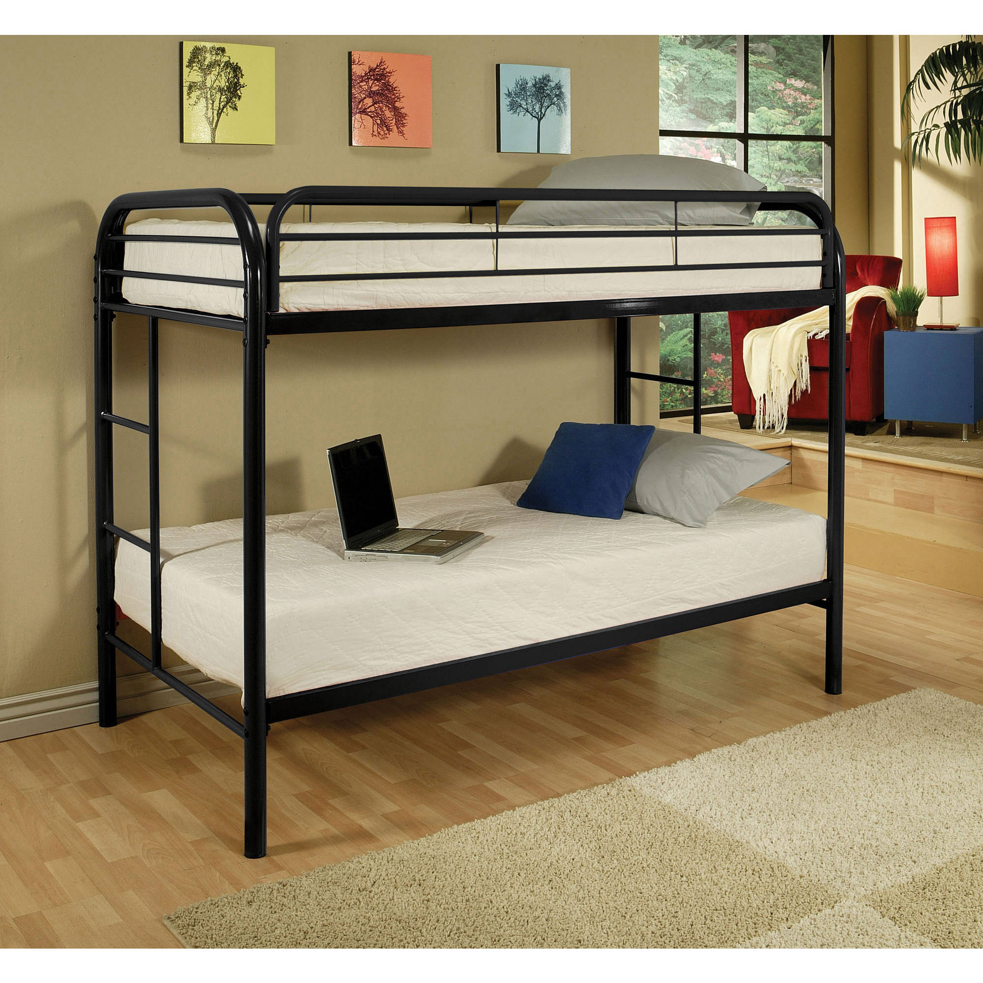 Acme Eclipse Twin Over Twin Metal Bunk Bed, Multiple Colors