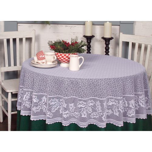 Heritage Lace Holly Vine Round Tablecloth