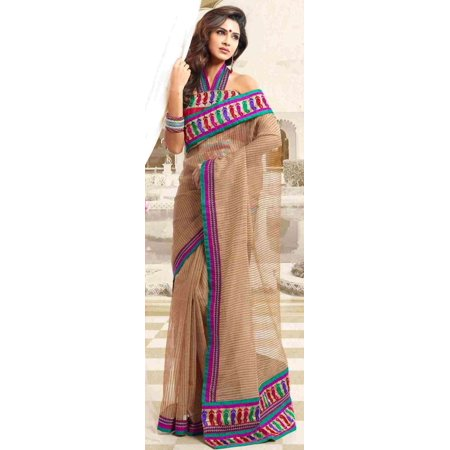 Bollywood Wedding Saree (Amba Bollywood  Designer Party Wear Indian Sari saree bellydance)