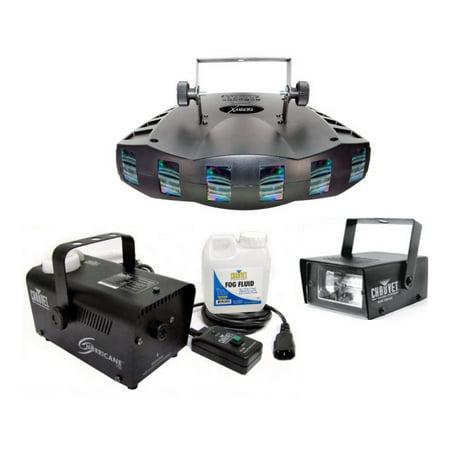 CHAUVET DERBY X RGB DMX Pro DJ Strobe Light + H700 Fog Machine + Strobe Light (Strobe Light Machine)