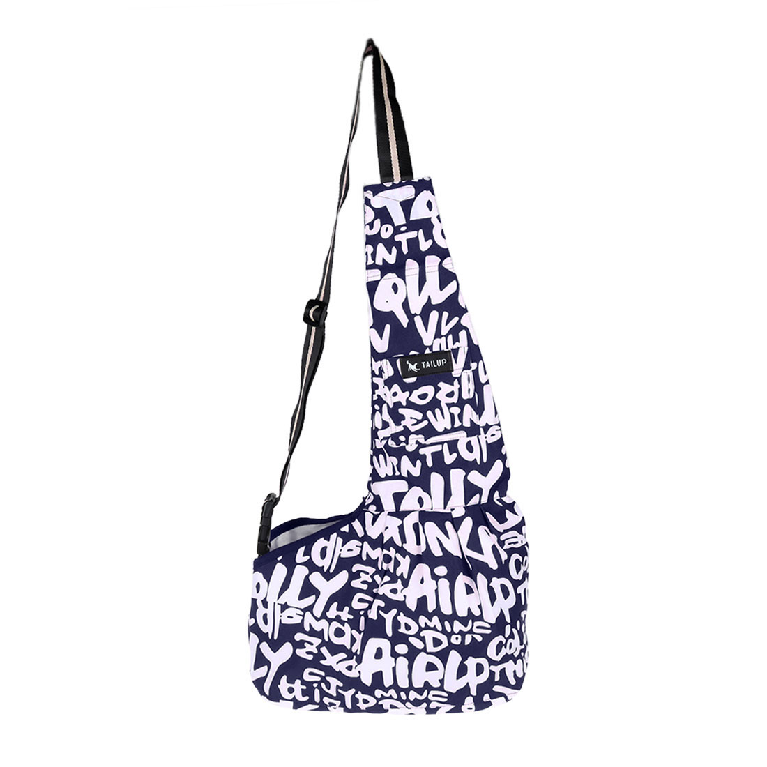 TAILUP Authorized Small Dog Cat Carrier Bag Washable Soft Shoulder Blue Letter S