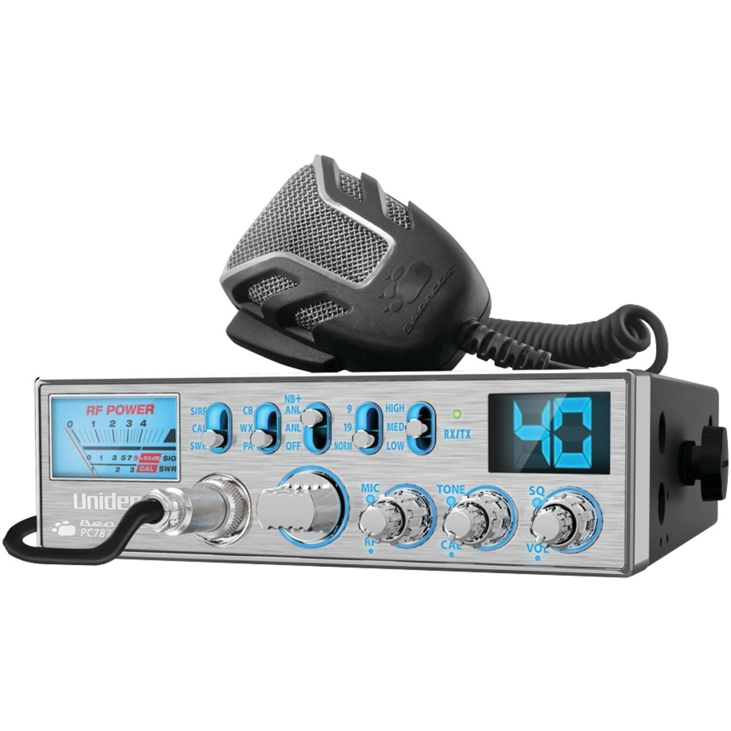 Uniden PC787 Bearcat CB Radio (Silver) (Discontinued by Manufacturer)