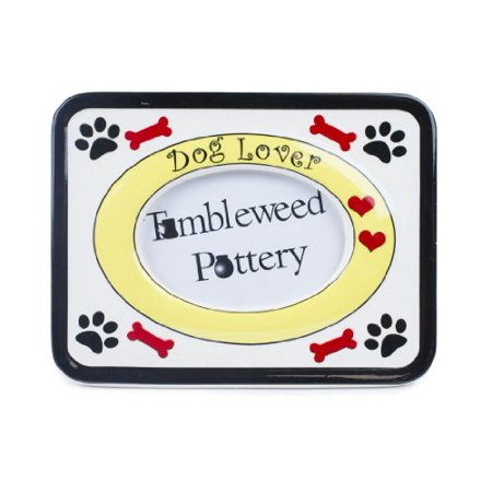 - Tumbleweed Pottery Dog Lover Picture Frame