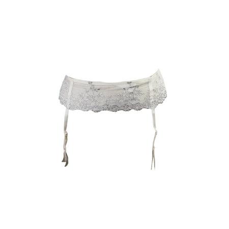 Wacoal Petite  Ivory Silver Embrace Lace Garter Belt PS ()