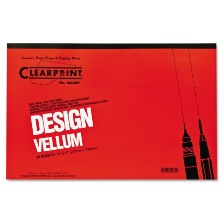 Clearprint Design Vellum Paper, 16lb, White, 11 x 17, 50 (Design Vellum)