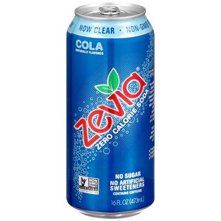 Zevia Calorie-Free Gluten-Free Cola Soda, 16 Fl. Oz., 24 (Sola 24 Inch)