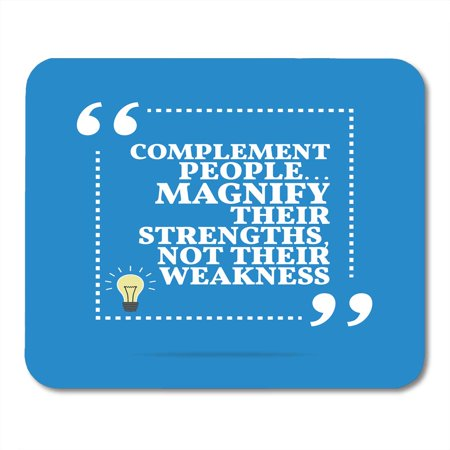 SIDONKU Inspirational Motivational Quote Complement People Magnify Their Strengths Not Weakness Shape Light Bulb Mousepad Mouse Pad Mouse Mat 9x10