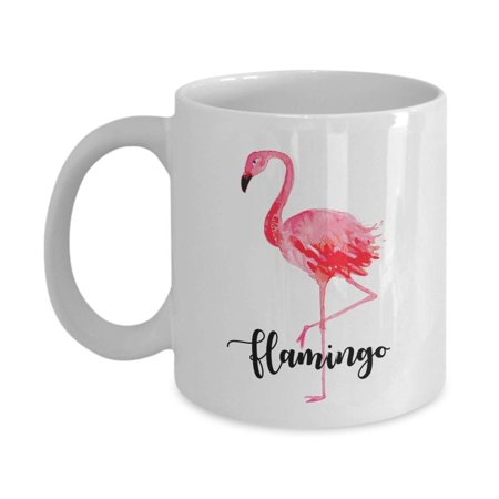 Cute Pink Flamingo Print Ceramic Coffee & Tea Gift Mug, Birthday Party Supplies, Favors, Accessories And Gifts For Men & Women Bird Lovers