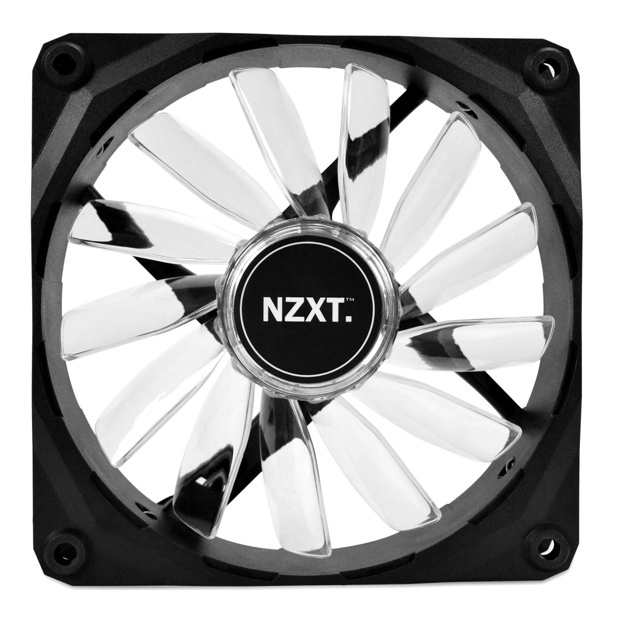 Nzxt 128043 Fan Rf-fz120-r1 Fz120led 120mm Air Flow Led Red