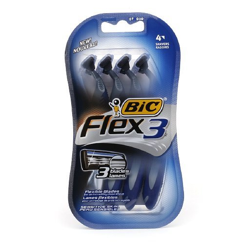 BiC Flex 3 for Men, Disposable Shaver, 4 Each