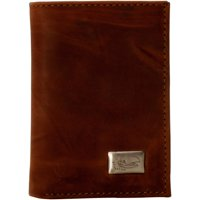 Kansas Jayhawks Leather Trifold Wallet - Brown - No Size