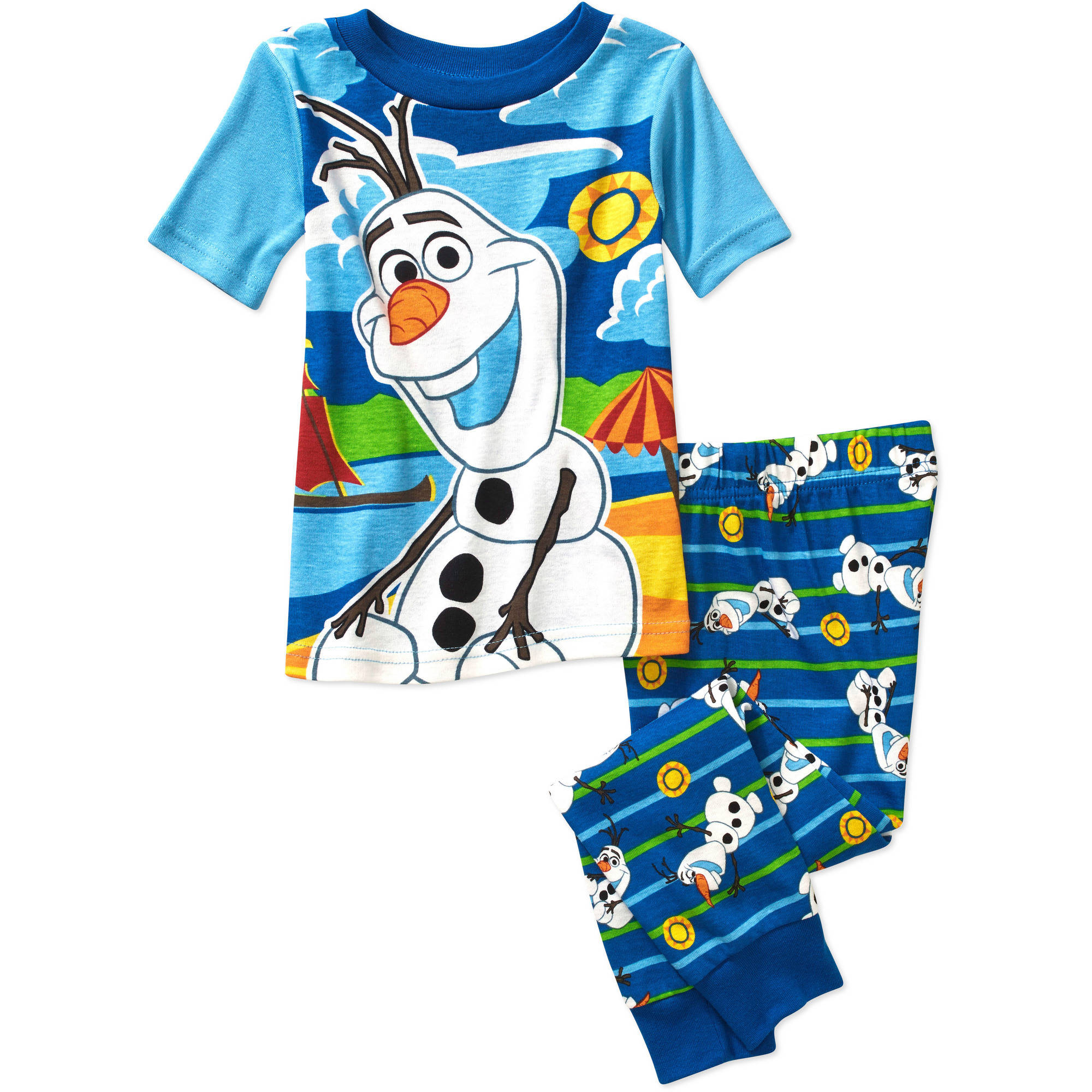 Disney Frozen Olaf Baby Toddler Boy Short Sleeve Cotton Tight Fit Sleepwear Set