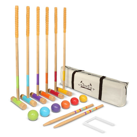 - GoSports Premium Croquet Set - Full Size for Adults & Kids