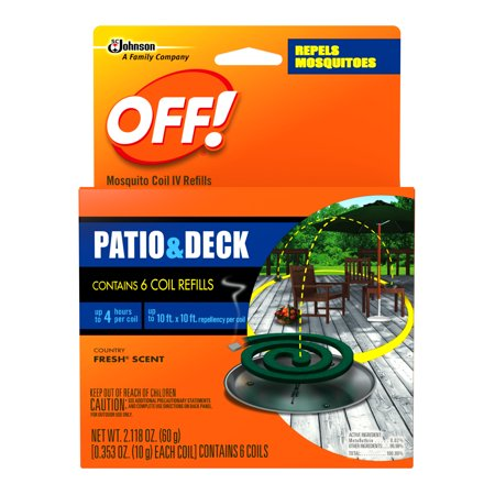 Buzz Off Mosquito (OFF! Mosquito Coil IV Refills, 6 count, 2.118 Ounces )