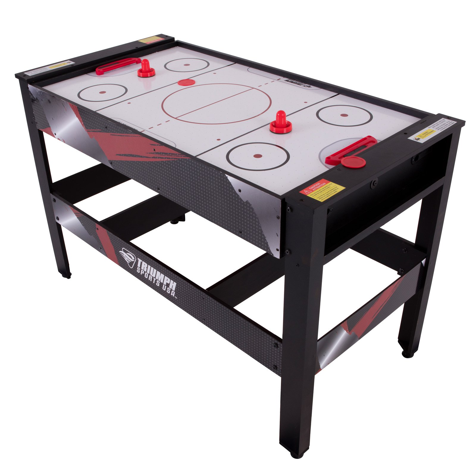 Triumph 48 in. 4-in-1 Swivel Multigame Table (Air Hockey, Billiards, Table Tennis, Launch Football)