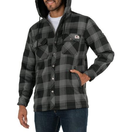 Wells Lamont Plaid Polar Fleece Lined Shirt Jacket