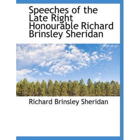Speeches of the Late Right Honourable Richard Brinsley Sheridan - image 1 of 1