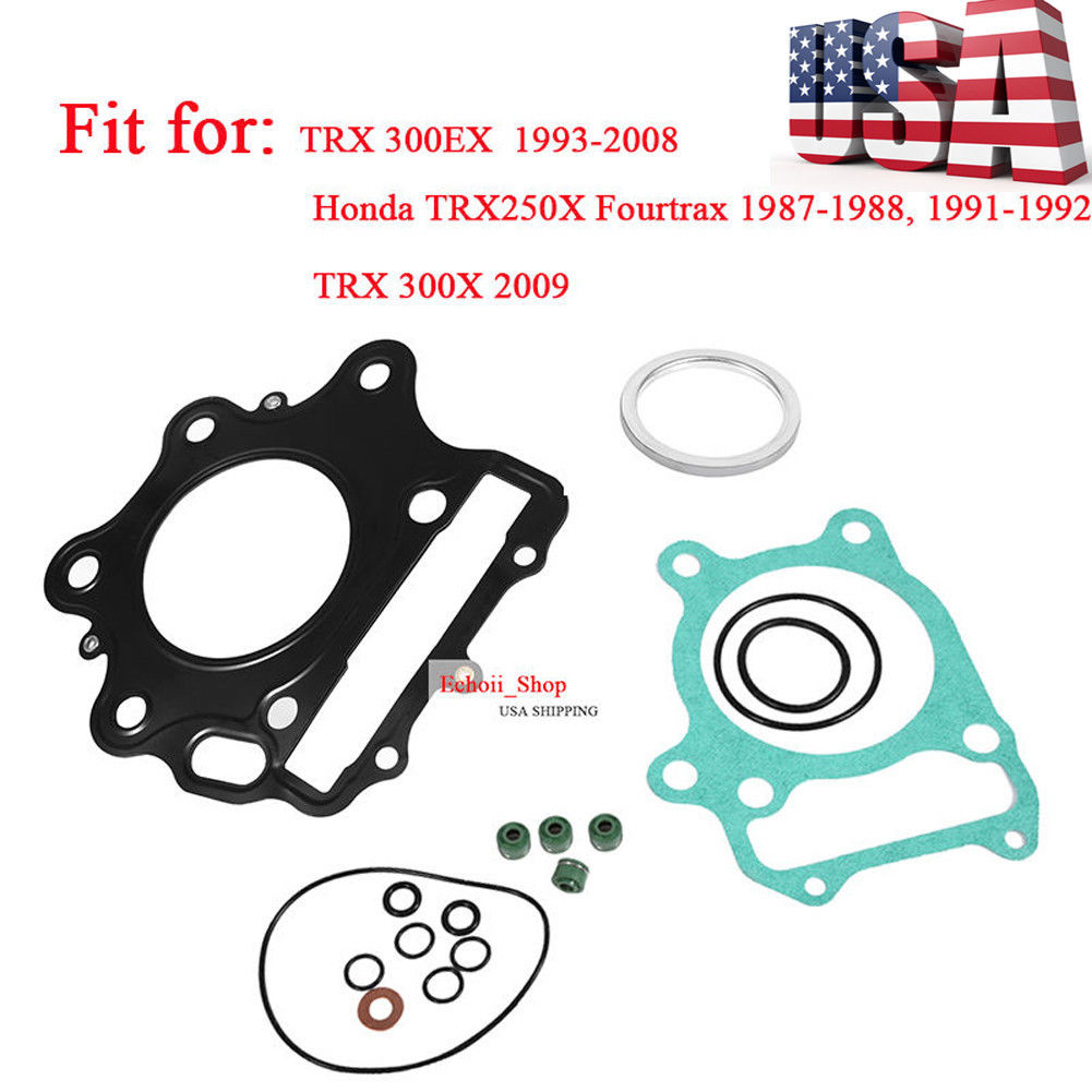 Top End Head Gasket Kit For HONDA TRX 300EX 300X 1993–2009 TRX250X Fourtrax