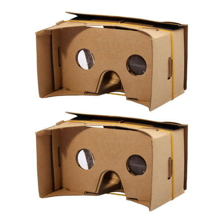 Smartphone Cardboard Kit DIY 3D VR Virtual Reality Viewing Glasses 6 Inch - Diy 3d Glasses