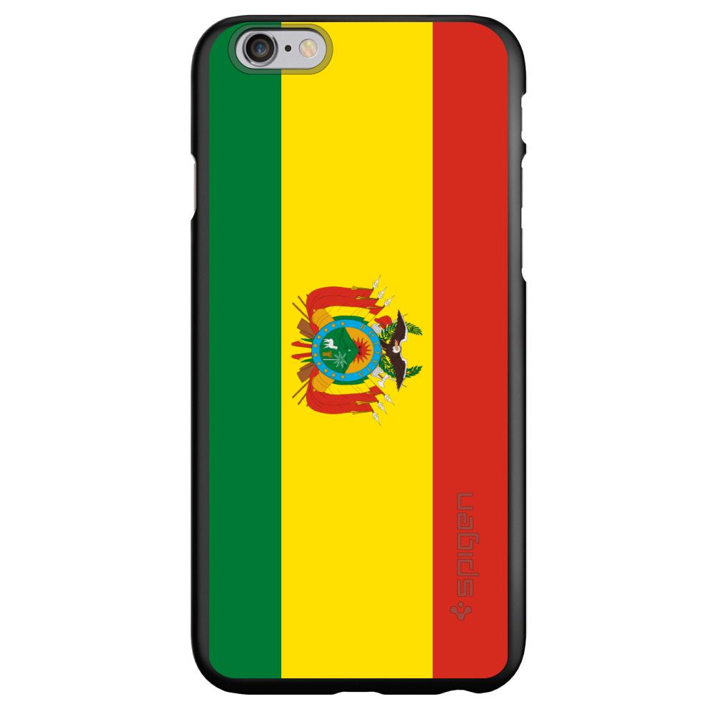 "CUSTOM Black Spigen Thin Fit Case for Apple iPhone 6 PLUS / 6S PLUS (5.5"" Screen) - Bolivia Flag"
