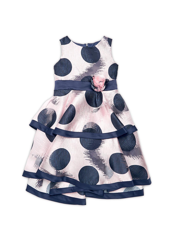 Litte Girl's Polka Dot Fit-&-Flare Dress