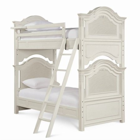 Smartstuff Gabriella Wood Twin Over Twin Bunk Bed in Lace