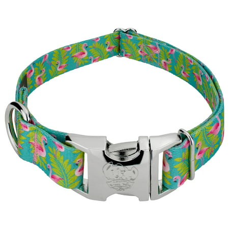 Country Brook Petz® Premium Flamingos Dog Collar