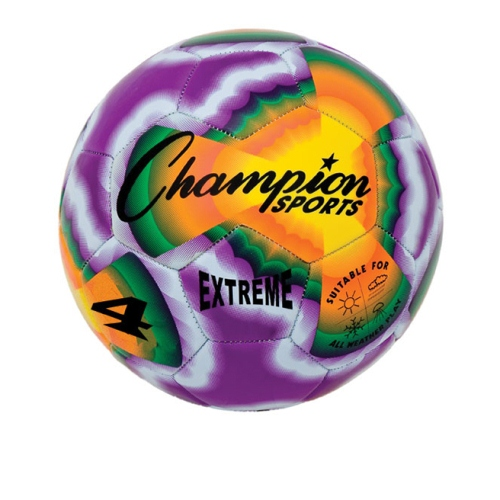 Soccer Ball by Champion Sports - Extreme Size 4, Tie Dye