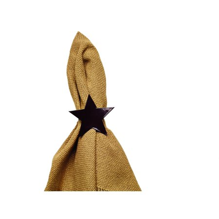Country Wedding Colors (Black Star Napkin Ring)