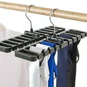1/2 Pack 12'' Tie Rack and Belt Hanger Holder Hook for Storing Neck Ties, Belts, and Scarves