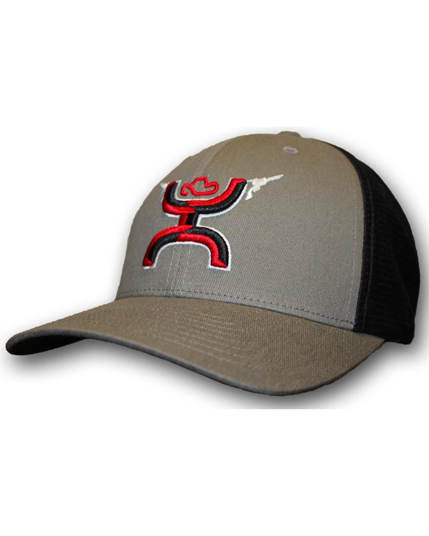 HOOey Hat Boys Baseball Cap Gunner One Size Gray Black 1007-Y - Walmart.com 770b82279264
