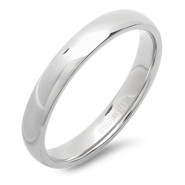Mens Stainless Steel Plain Band Ring, Size - 7