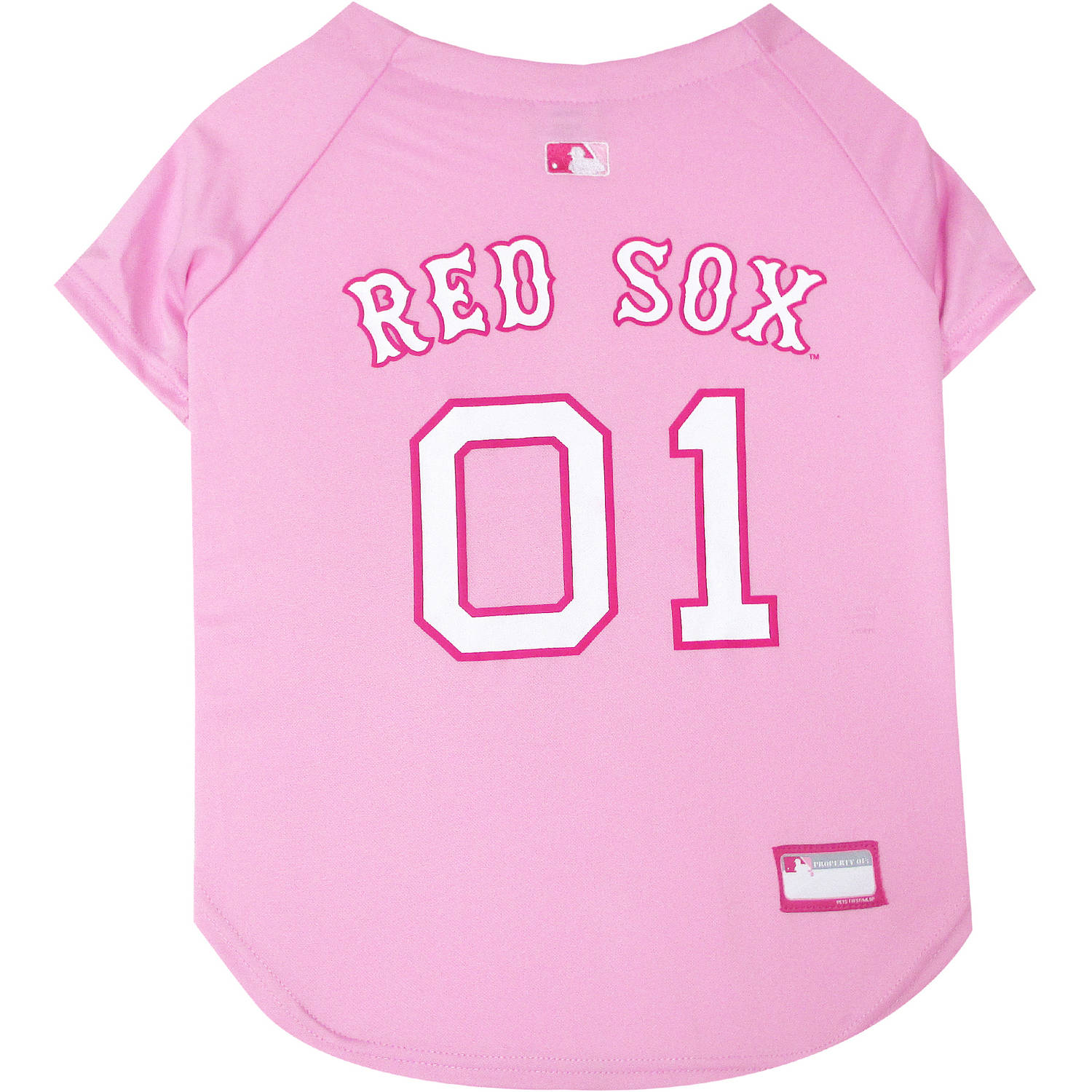 Pets First MLB Boston Red Sox Pet Pink Jersey, X-Small