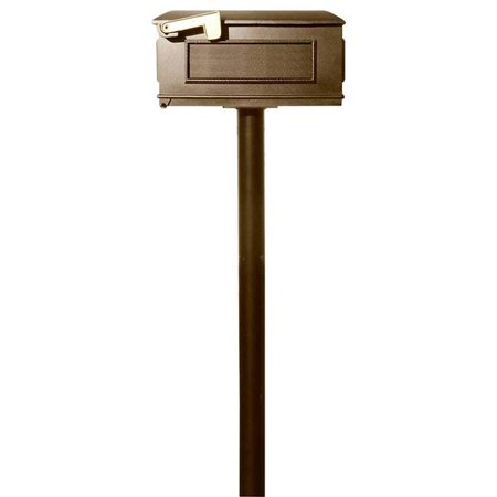 qualarc hpns2-000-lm-brz the hanford twin no scrolls lewiston bronze mailbox post system, aluminum - 70 x 22 x 20 in.