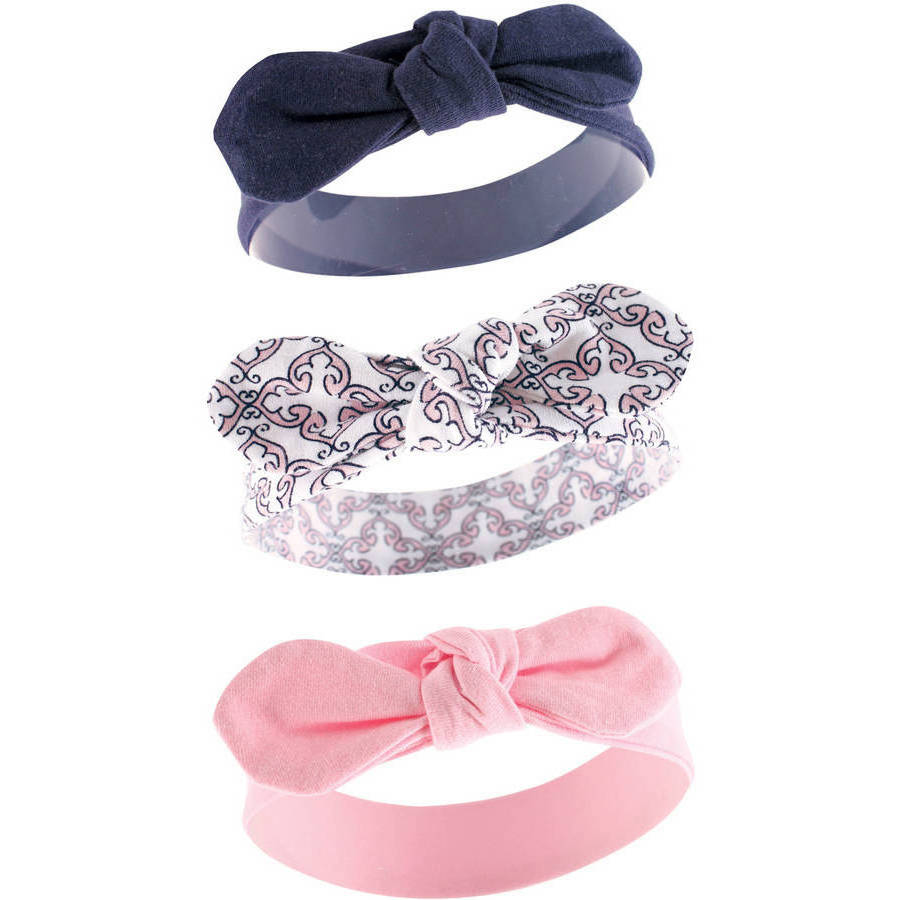 Yoga Sprout Newborn Baby Girls Headband 3-Pack - Trellis