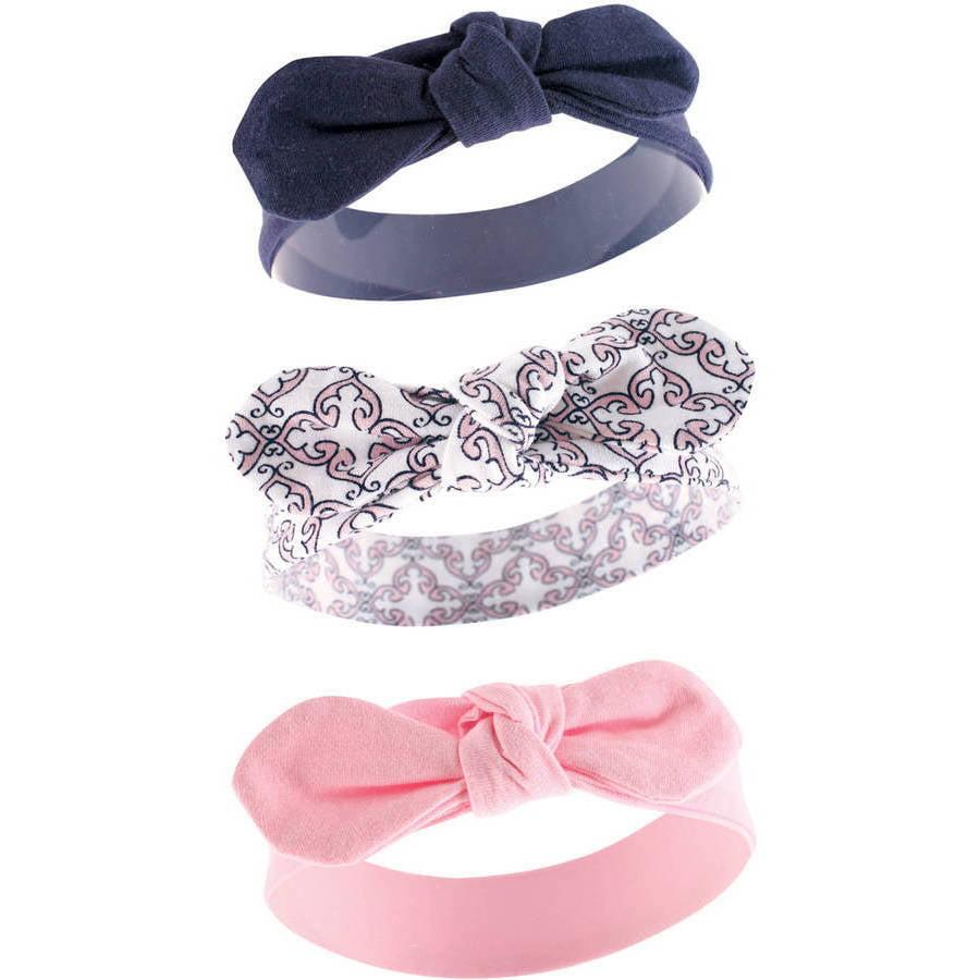 Yoga Sprout Newborn Baby Girls Headband 3-Pack - Trellis